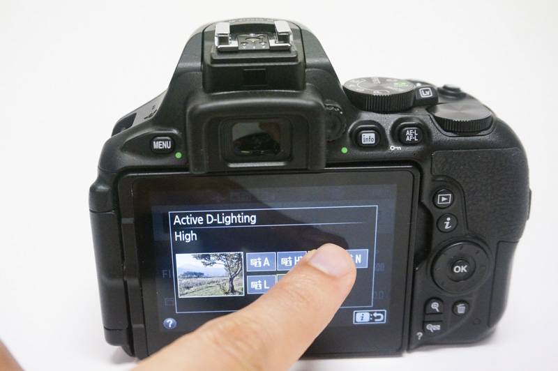 Like the 77D, the D5600 also lets you go through menus with touch.