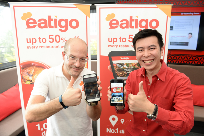 From L-R: Michael Cluzel, Co-founder & CEO of eatigo International Pte. Ltd and Pumin Yuvacharuskul, Co-founder & CEO Thailand of eatigo International Pte. Ltd at the launch of eatigo Malaysia.
