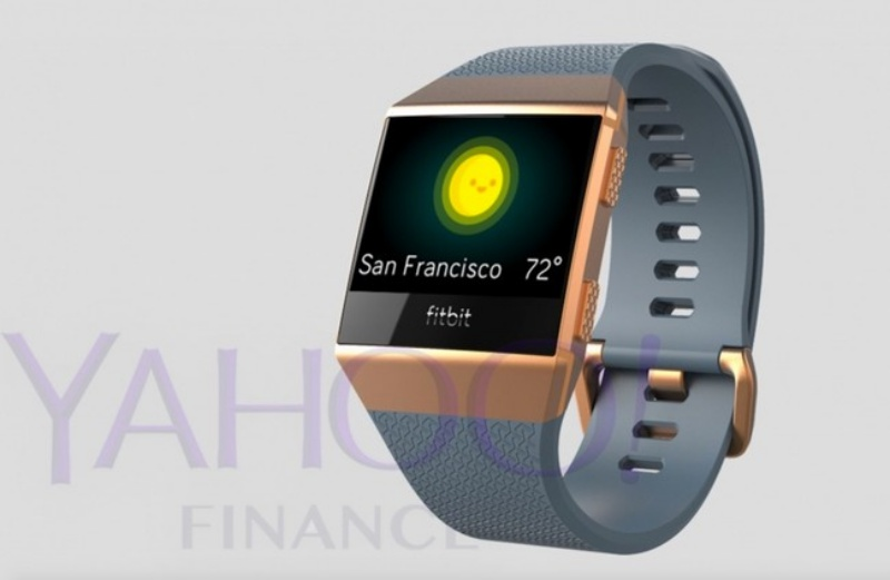 A purported image of Fitbit's new smartwatch. <br>Image source: Yahoo! Finance.