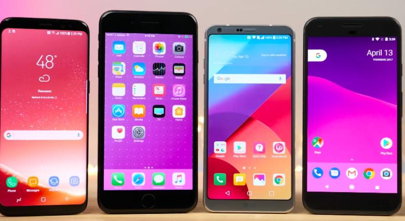 Screenshot from EverythingApplePro's YouTube video on Galaxy S8 vs 7 Plus vs LG G6 vs Pixel vs 3T SPEED Test!