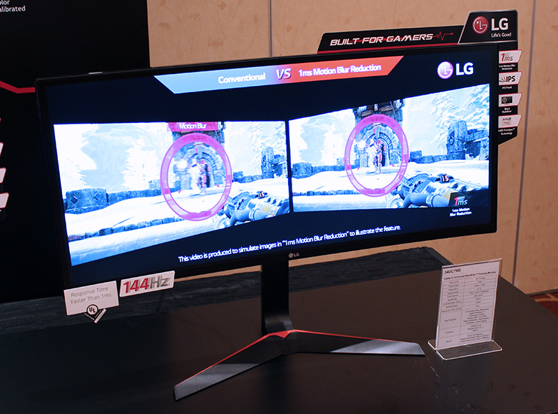 The LG 34UC79G supports refresh rates of up to 144Hz and also AMD FreeSync.