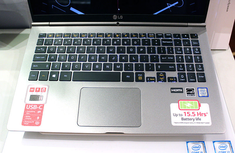 After studying feedback from users, LG has decided to give the gram notebooks backlit keyboards.