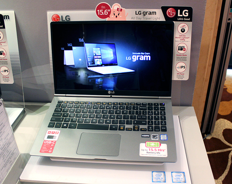 The LG gram 15 has been updated with Intel's latest processors and also features a larger battery for an extended battery life.