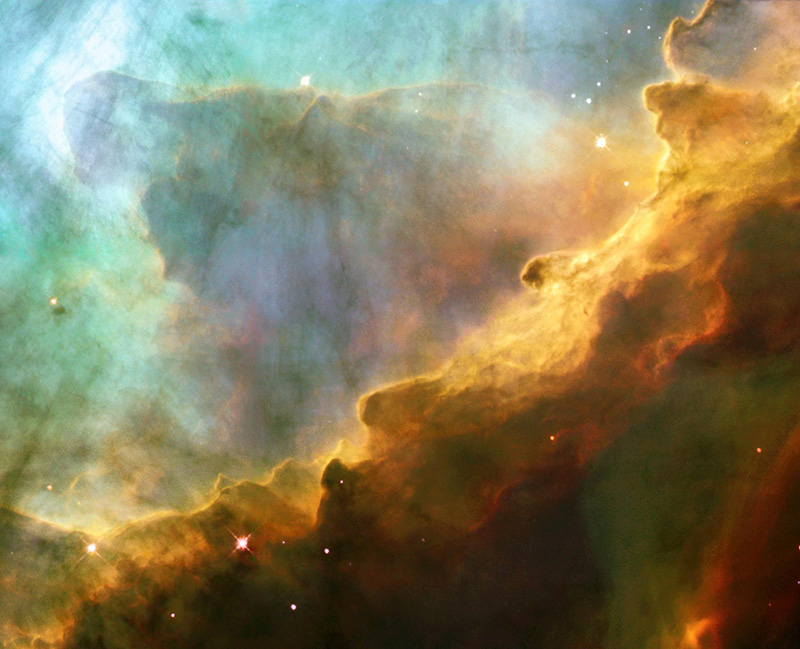 Where else can you easily find pictures of the Omega Nebula?