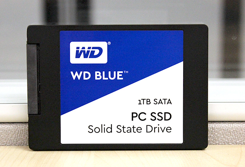 The WD Blue SSD is one of Western Digital's first consumer SSDs.