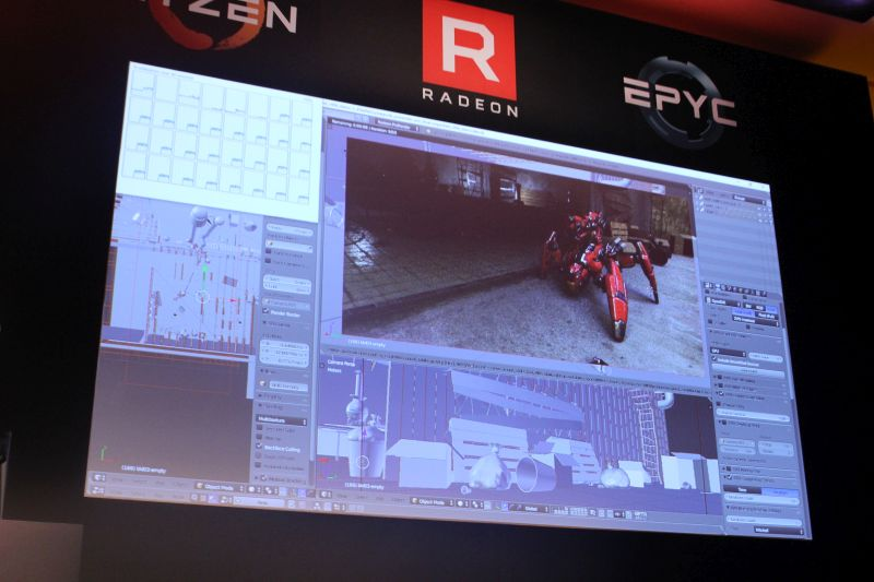 A real-time demonstration of the Radeon RX Vega Frontier Edition GPU in action.
