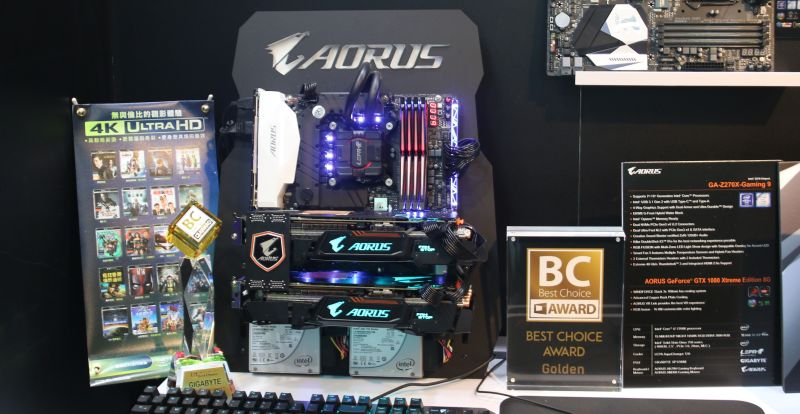 Gigabyte demonstrated 4K HDR playback on its AORUS Z270X Gaming 9 motherboard using Cyberlink's new PowerDVD 17 Ultra software.