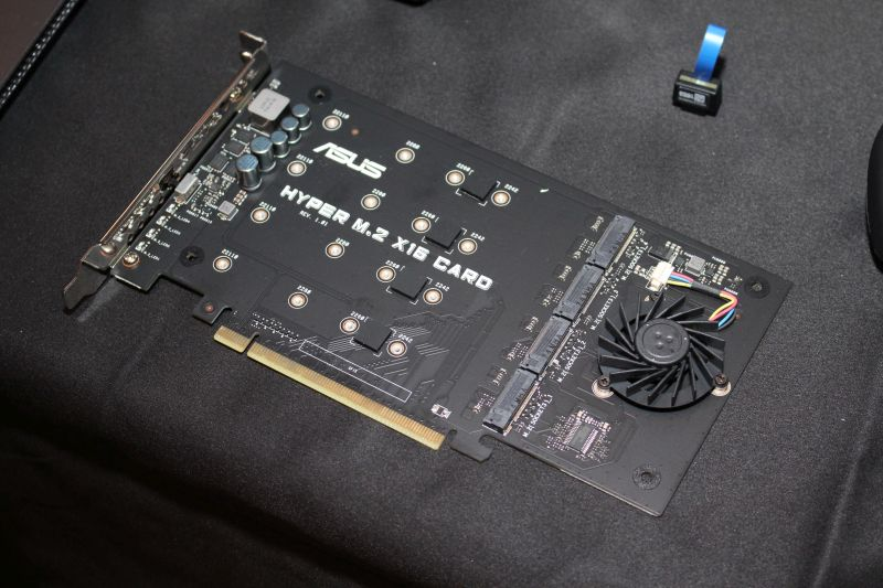 The Hyper M.2 x16 SSD card can house up to four Intel-based M.2 SSDs at any given time.