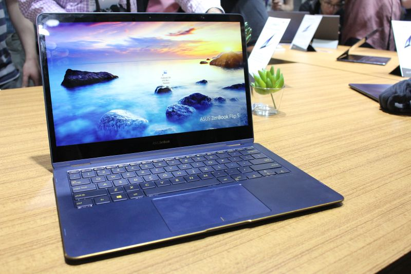 The ASUS ZenBook Flip S, the company's new convertible Ultrabook.