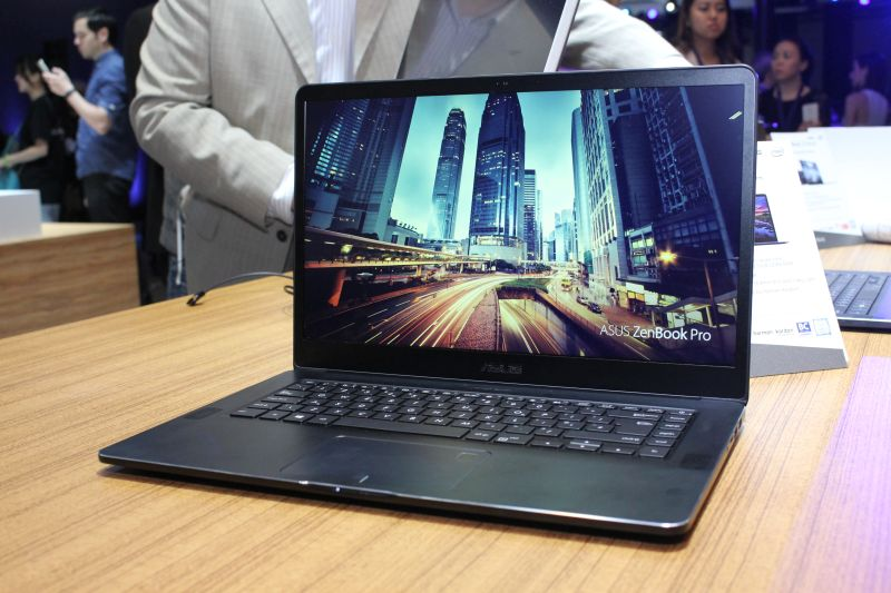 The ASUS ZenBook Pro. This picture was originally taken at the ASUS press conference at COMPUTEX 2017.
