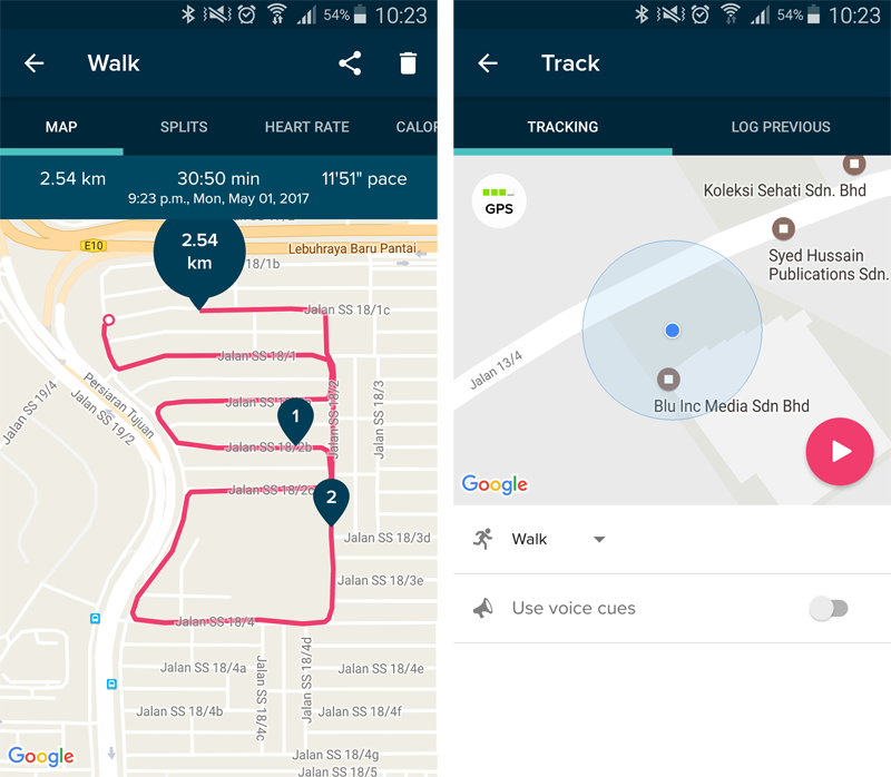 Even without an integrated GPS module or a connected GPS feature, the Alta HR can still have your runs plotted onto a map using the MobileFun feature within the Fitbit app.