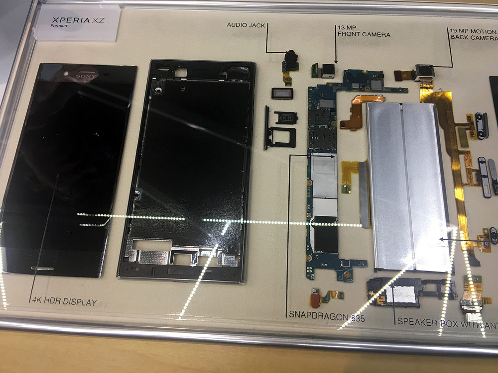 Attendees got to see the teardown of the XZ Premium!