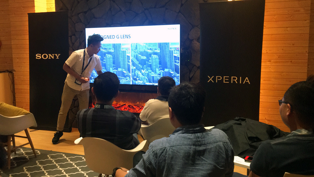 Jake Tan, Product Manager for Sony Mobile Communications, taking our attendees through the features of the new XZ Premium.
