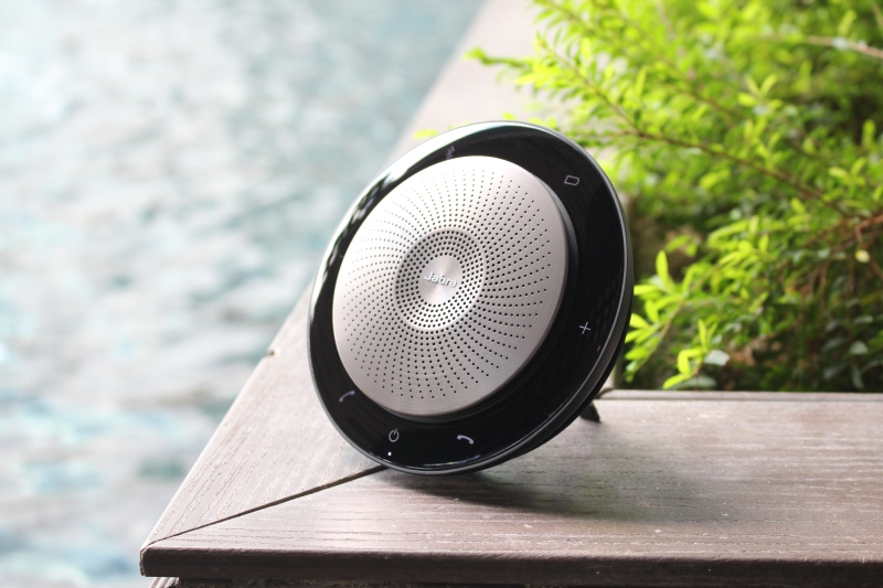 The Jabra Speak 710 can be propped up as well.