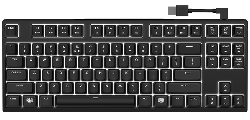 The Cooler Master MasterKeys Pro M RGB gives you a number pad in a