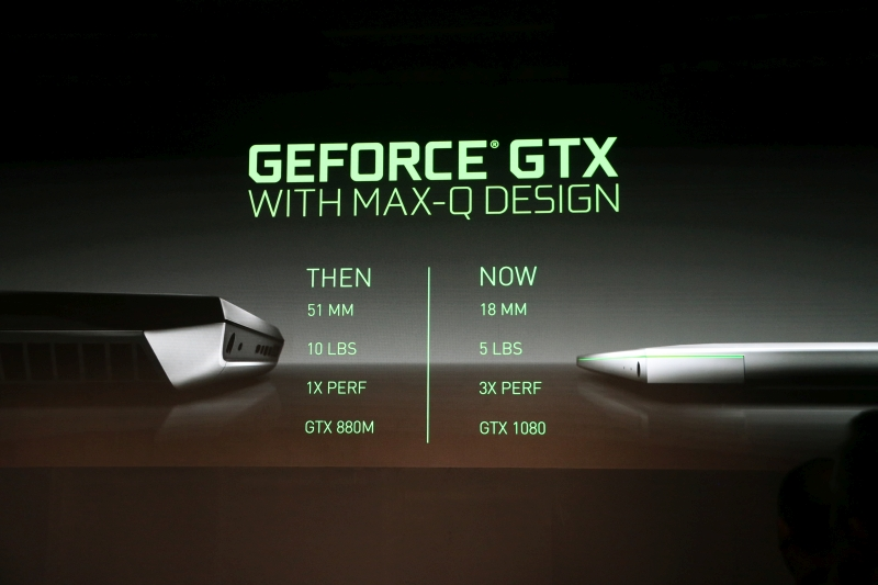 Here's NVIDIA highlighting the difference that Max-Q will bring to the table.
