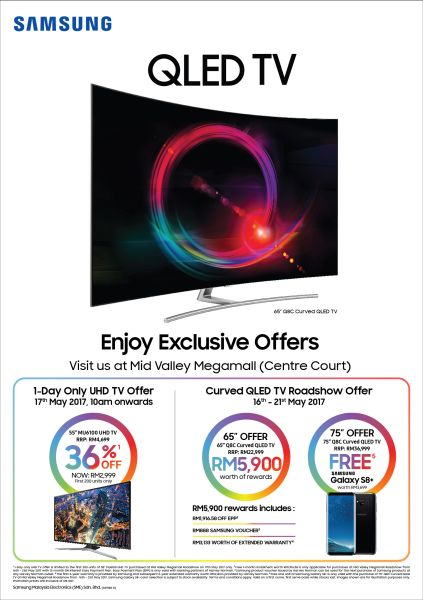 get a 55 inch samsung uhd tv for rm2 999. Black Bedroom Furniture Sets. Home Design Ideas