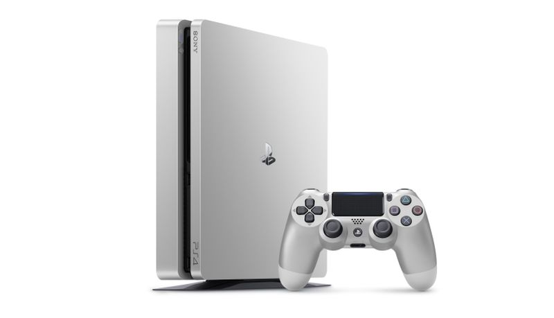The silver PS4.