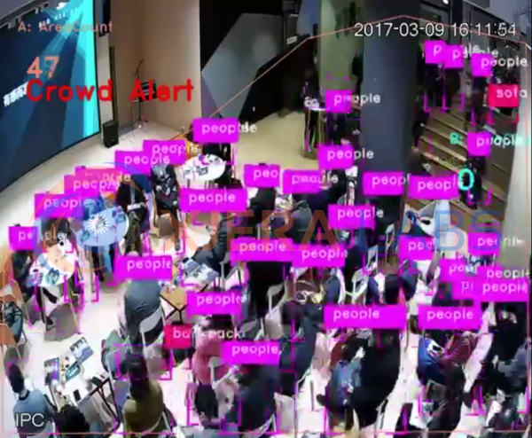 Xjera Labs' Intelligent Video Analysis solution making out individual persons in a crowd. <br>Image source: Xjera Labs.