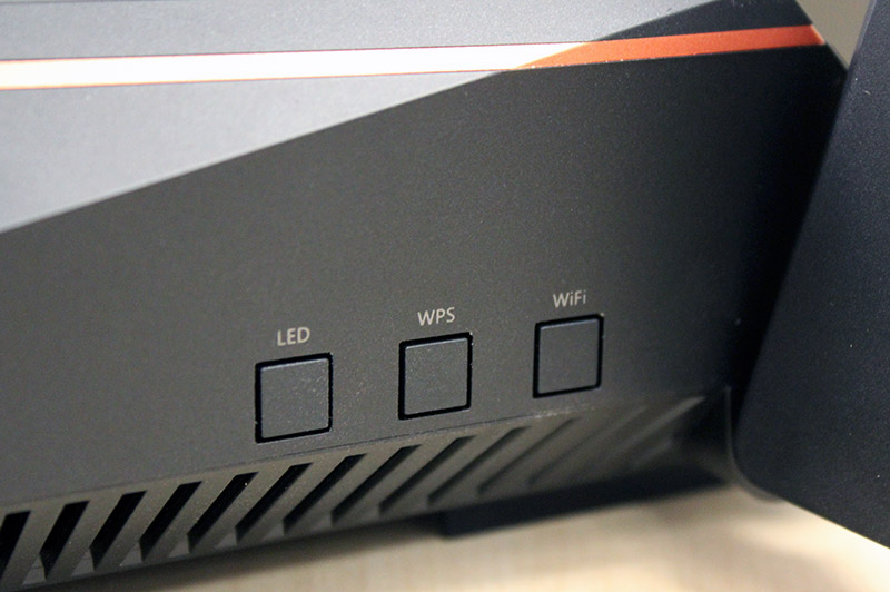 Buttons let users quickly turn off the LED status indicators or Wi-Fi. There is also a third button for WPS setup needs.