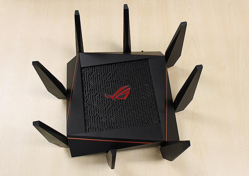 The ROG Rapture GT-AC5300 looks identical to the older RT-AC5300 router.