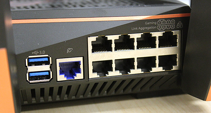 The ROG Rapture GT-AC5300 has no shortage of Ethernet ports.