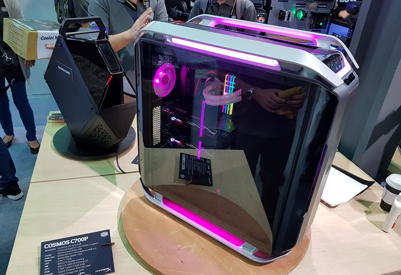 cooler master, computex 2017, cosmos, c700p, casing, chassis, mastercase, h500p, masterbox, motherboards, gaming, pc enthusiast