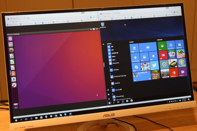 We ran both the Ubuntu and Windows 10 VMs simultaneously, and it worked as well as you'd expect.