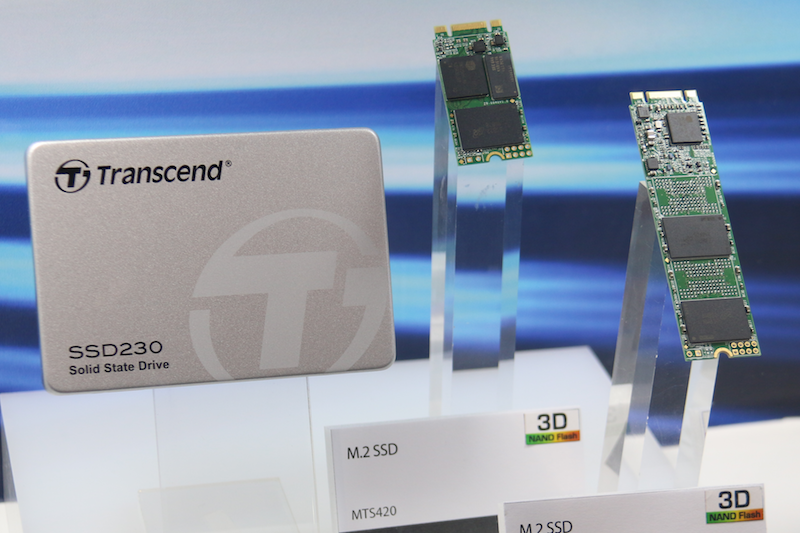 Joining the 3D NAND flash family is the SSD230 (pictured left), which is a 2.5-inch SATA III 6Gb/s SSD that can handle up to 560MB/s read and 520MB/s write.