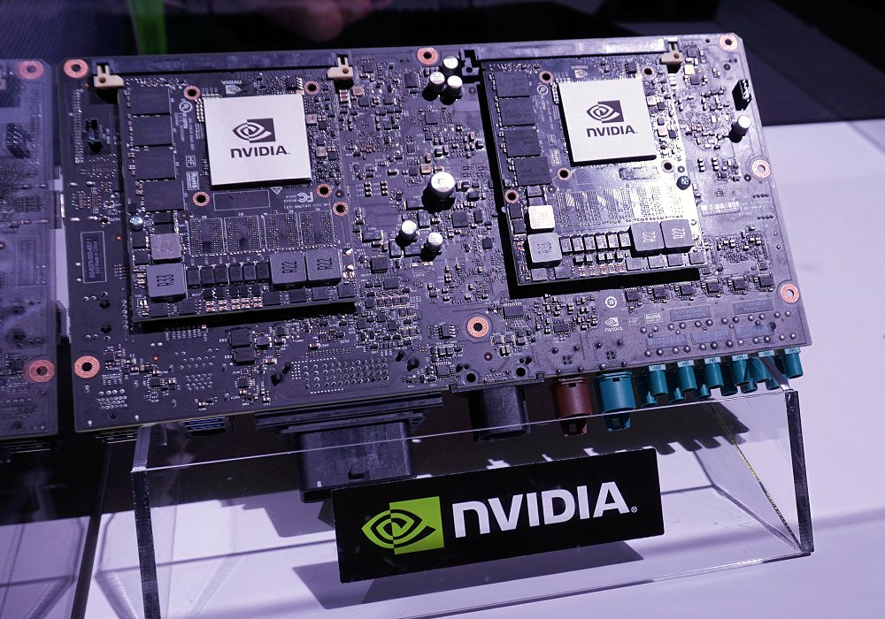 The brain of an AI truck:- NVIDIA Drive PX 2.