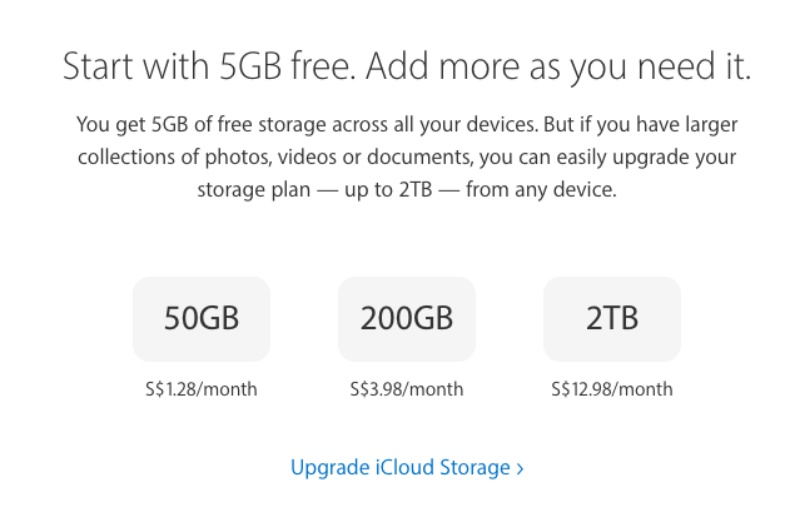 Apples 2TB ICloud Storage Option Is Cheaper Now