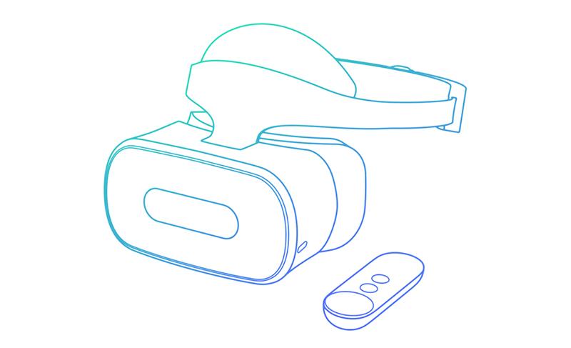 Google Lenovo VR headset