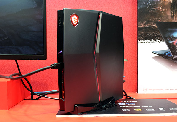 The MSI Vortex G25 looks like a gaming console.