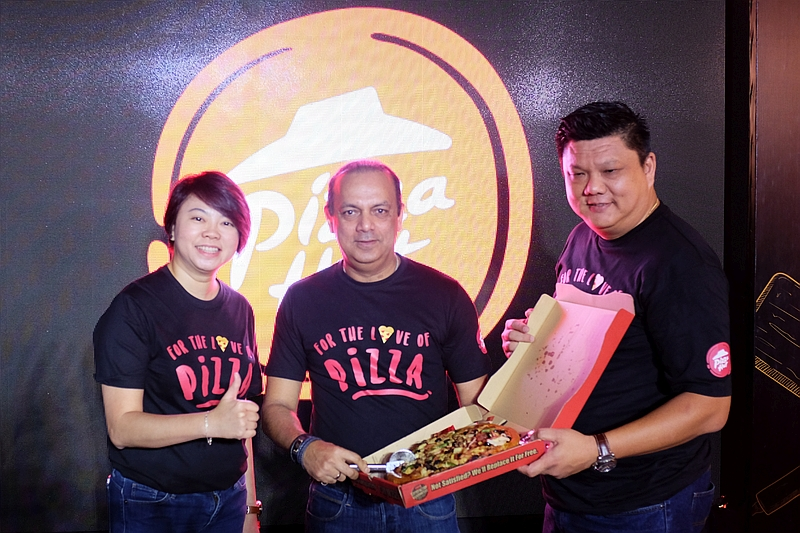 (From L-R) Jean Ler, Chief Marketing Officer, Pizza Hut Malaysia; Merrill Pereyra, Chief Executive Officer, QSR Brands (M) Holdings Bhd; and Eric Leong, General Manager, Pizza Hut Malaysia.