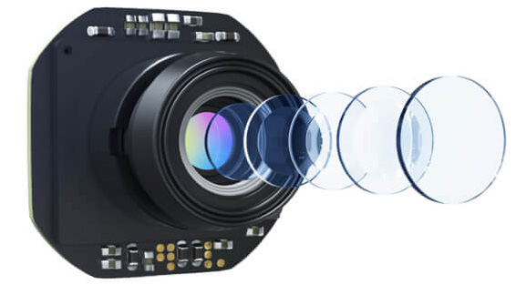 The lens used in the camera features five elements fit in a single group.
