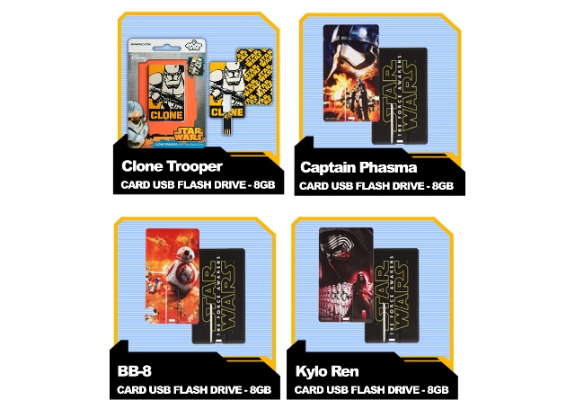 star wars, cellprime, usb card flash drives