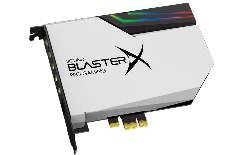 The Sound BlasterX AE-5 Pure edition, comes with four LED strips with 10 LEDs each.