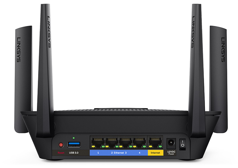 No more dropped connections with the new linksys max stream ea8300 a good number of ports are on the back of the ea8300 greentooth Choice Image