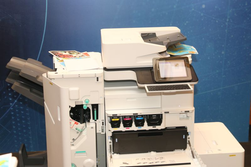 Here's one of the LaserJet A3 printers that's on showcase during the event.