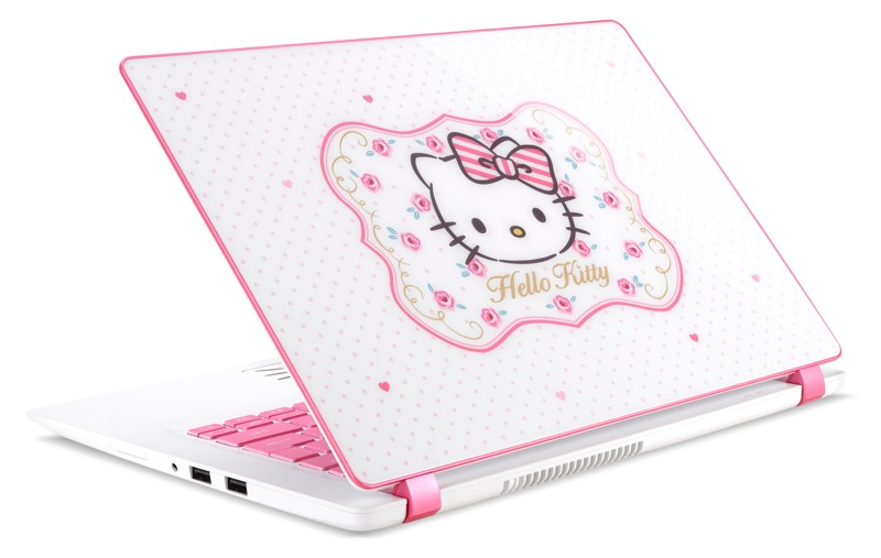hello kitty, acer, laptop