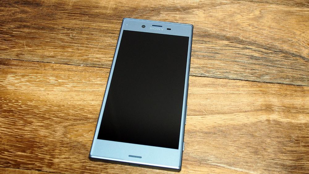 Sony Xperia XZs (in Ice Blue).