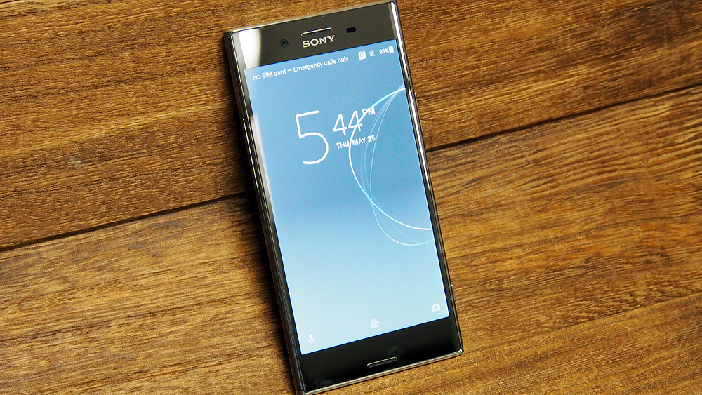 Sony Xperia XZ Premium (in Luminous Chrome).