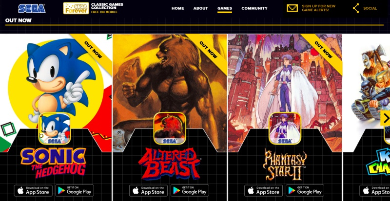 Sega Forever brings classic games to iOS and Android for