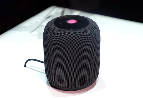 The top lights up when you are communicating with Siri.