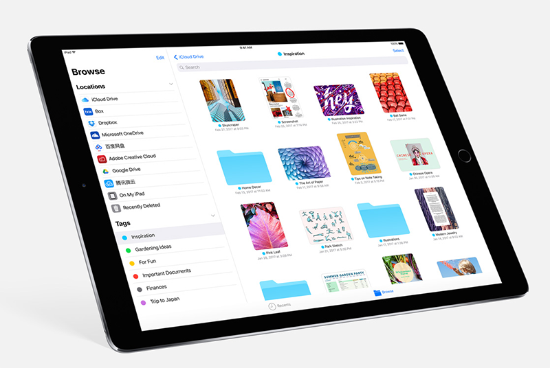 iOS 11 will bring lots of improvements to the iPad, chief of which is the new Files app, which works like Finder on the Mac.