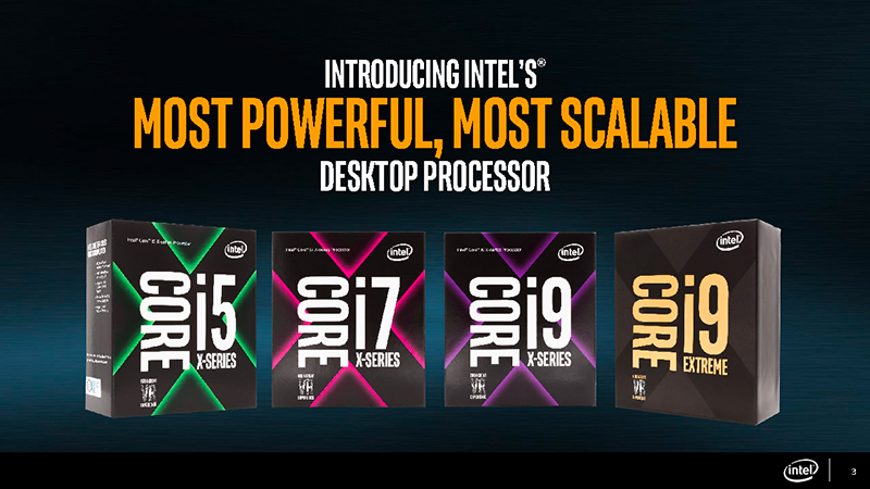 Intel's new Core X family includes everything from affordable 4-core chips to monstrous 18-core processors. (Image Source: Intel)