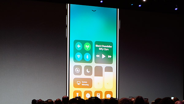 The new Control Center gives quicker access to frequently used settings.