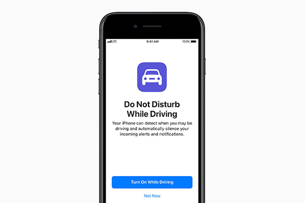 "Keep yours eyes on the road when driving with the new ""Do Not Disturb While Driving"" mode."
