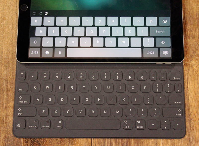 There's a new Smart Keyboard designed to fit the form factor of this new iPad Pro.