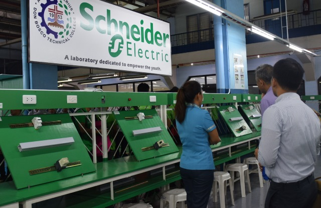 schneider electric, don bosco technical college, green electrician's laboratory, hardwarezone, hwm, philippines